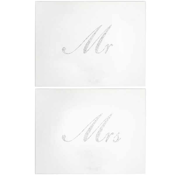 SILVER MR & MRS PLACEMATS