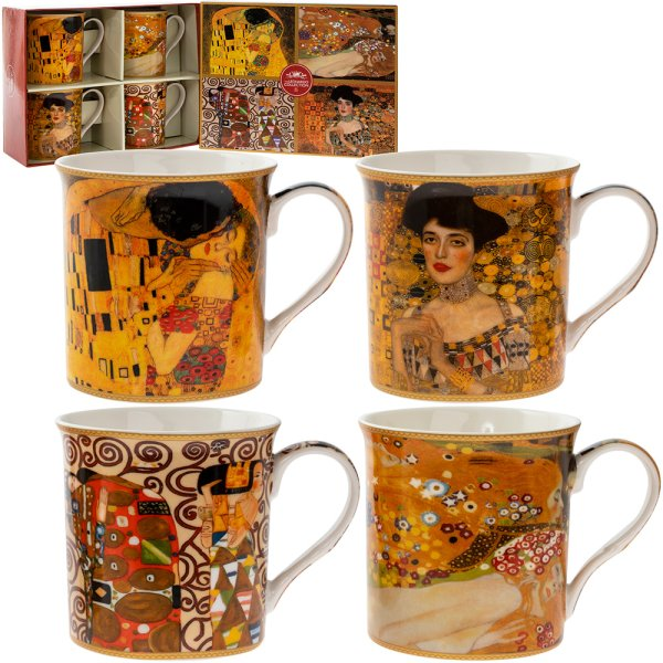 KLIMT MUGS SET OF 4