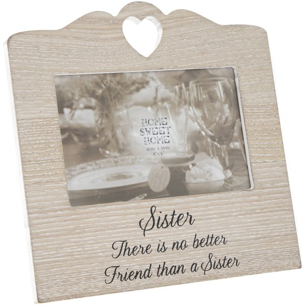 SENTIMENTS HEART FRAME SISTER