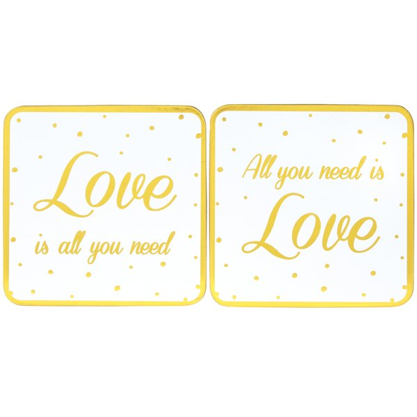 LOVE COASTERS 2 SET