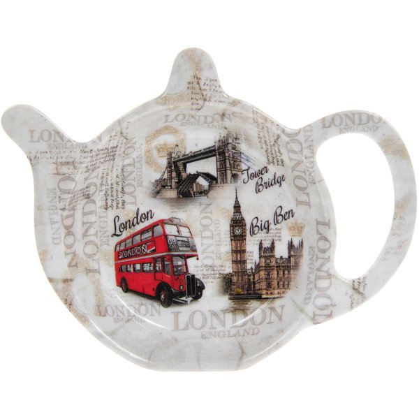 VINTAGE LONDON TEA BAG TIDY