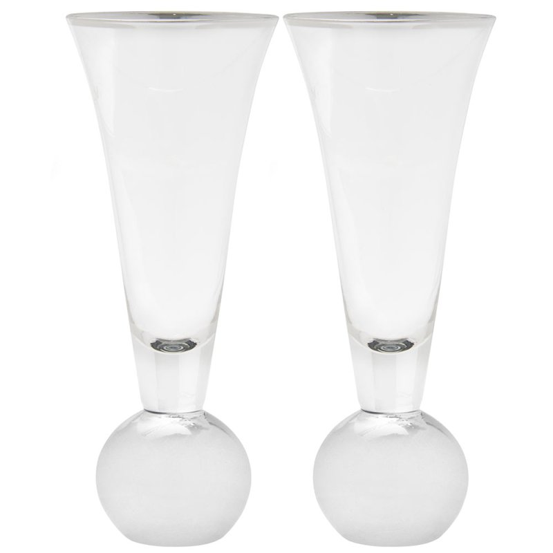 SILVER STEMLESS FLUTE SET OF 2