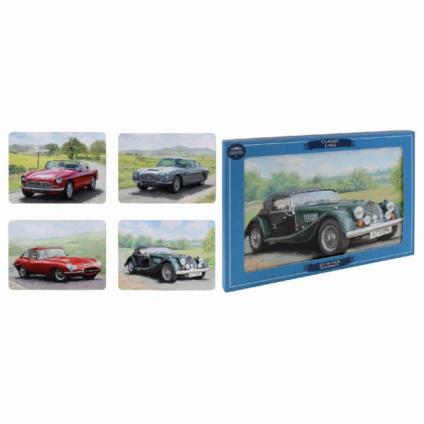 CLASSIC CARS PLACEMATS SET 4
