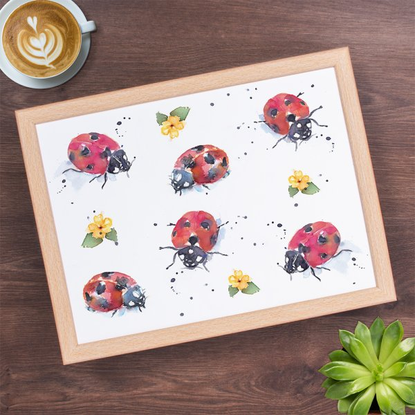 COUNTRY LIFE LADYBIRDS LAPTRAY