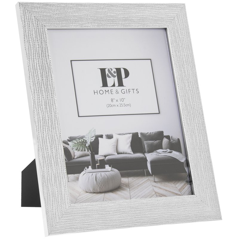 SILVER WEAVE PHOTO FRAME 8X10