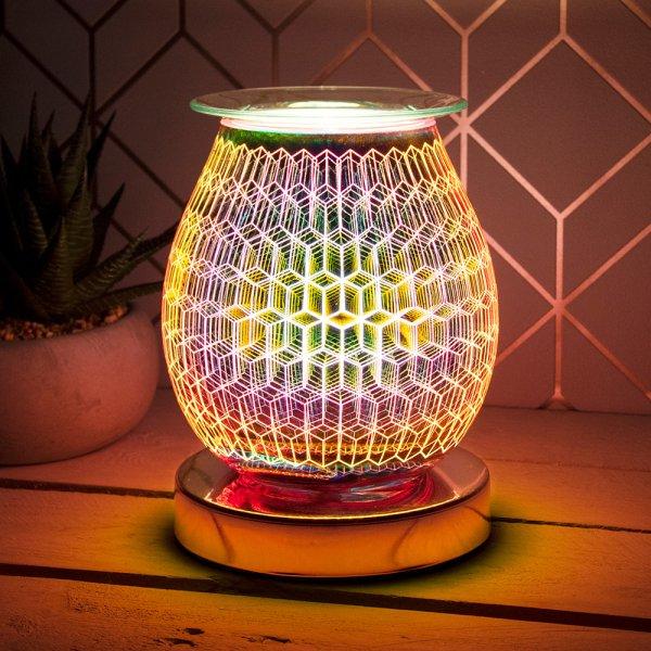 DESIRE AROMA LAMP RHOMBUS ROSE