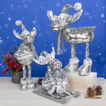 CHRISTMAS SNOWMAN & REINDEER PLUSH