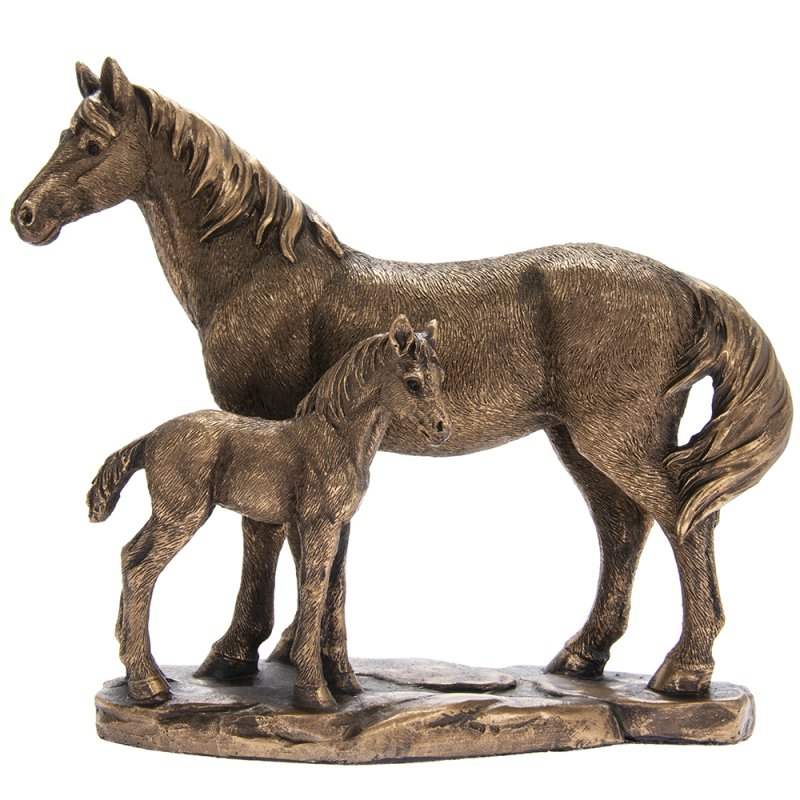 REFLECTIONS BRONZED HORSE&FOAL
