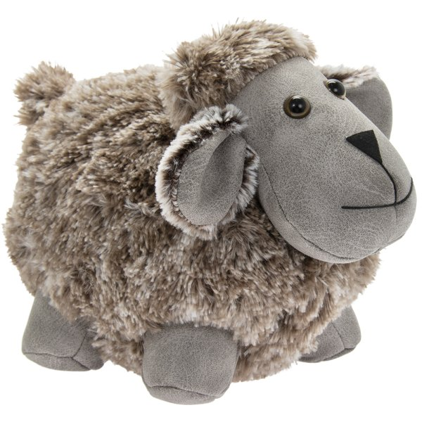 GREY FAUX LEATHER SHEEP DSTOP