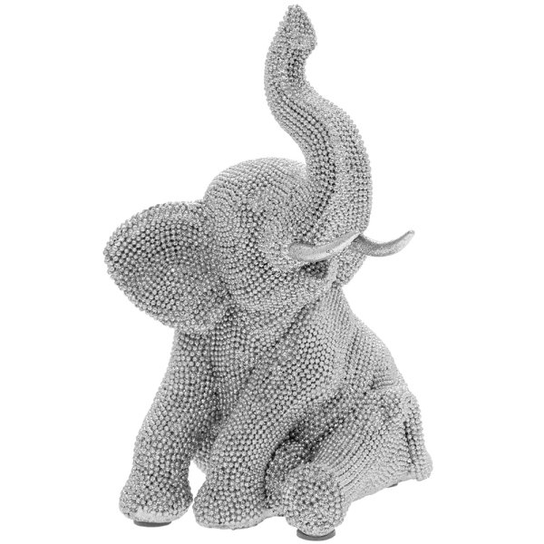 SILVER ART ELEPHANT SITTING