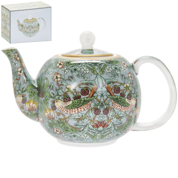 S'BERRY THIEF TEAL TEA POT