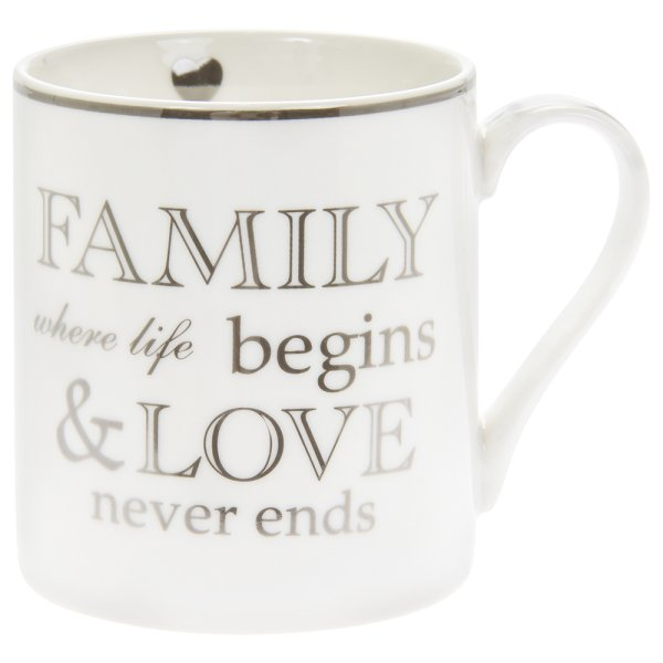 FAMILY NEVER ENDS MUG