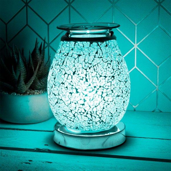 DESIRE AROMA LAMP TEAL MOSAIC