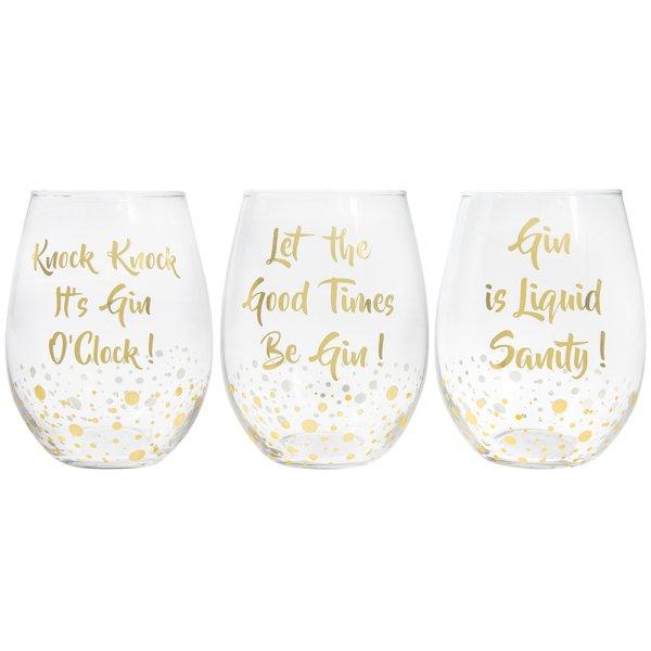 GIN GLASS 3 ASST
