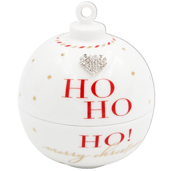 MAD DOTS HO HO HO BAUBLE CANDL