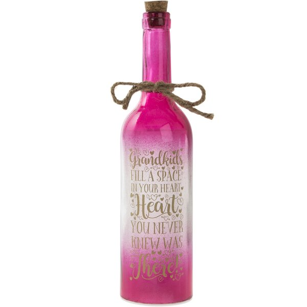 LED BOTTLE GRANDKIDS PINK