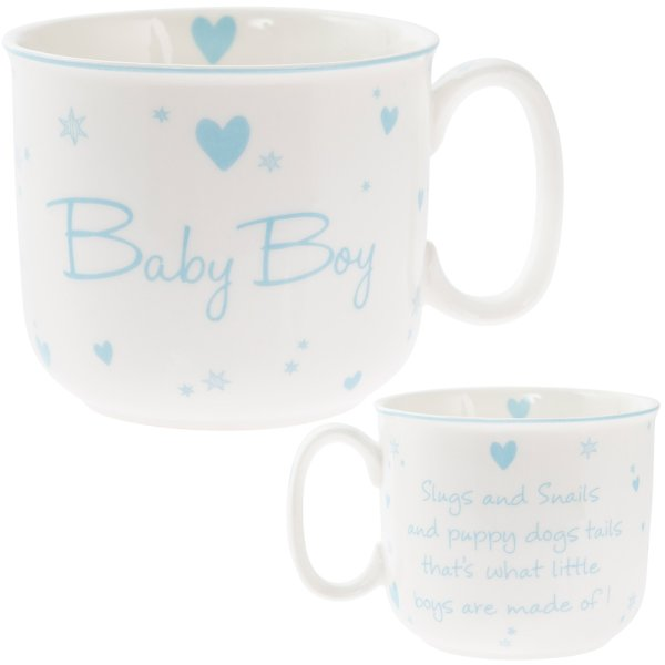 NEW BABY BOY HANDLED MUG
