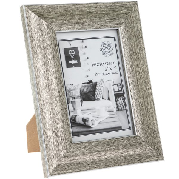 BRUSHED SILVER FRAME 4X6