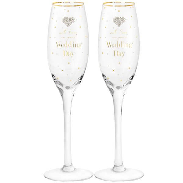 MAD DOTS WEDDING FLUTES
