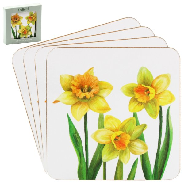 DAFFODIL COASTERS 4 SET