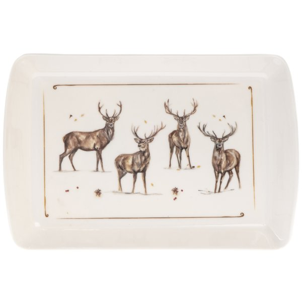 WINTER STAGS TRAY SMALL
