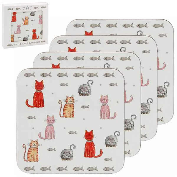 FAITHFUL FRIEND CAT COASTER S4