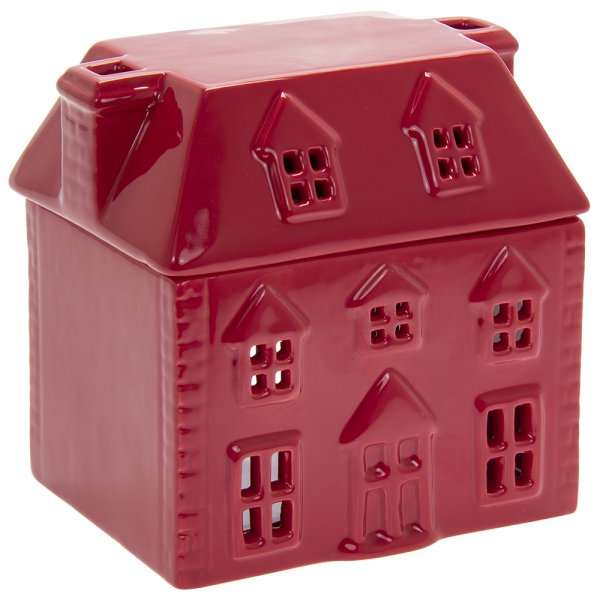 XMAS WAX/OIL WARMER RED HOUSE