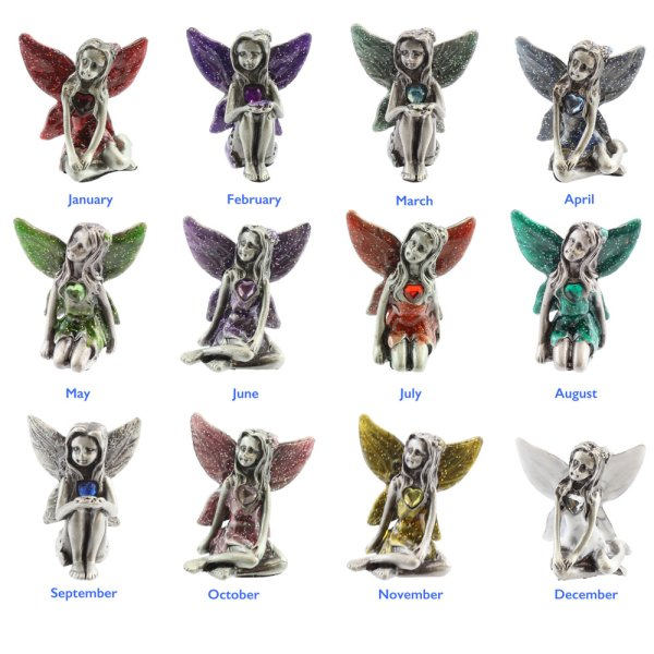 PEWTER BIRTHSTONE FAIRIES 12A