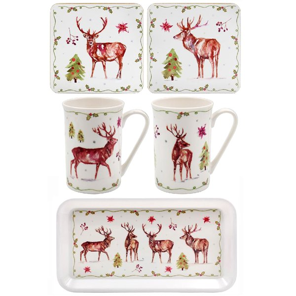 WINTER STAGS GIFT SET 5 PC