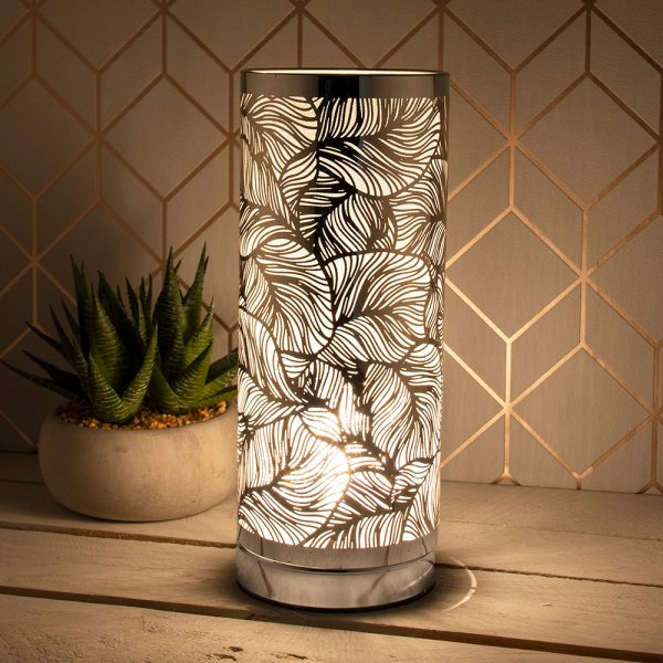DESIRE LEAF TOUCH LAMP SILVER