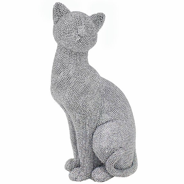 SILVER ART CAT SITTING