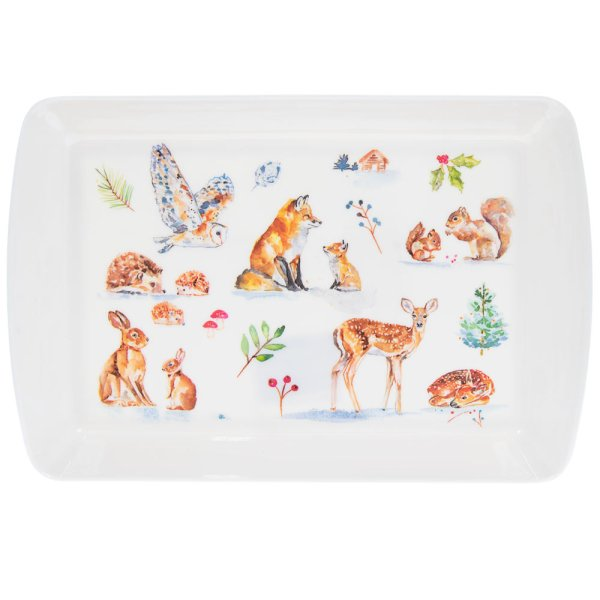WINTER FOREST TRAY SML