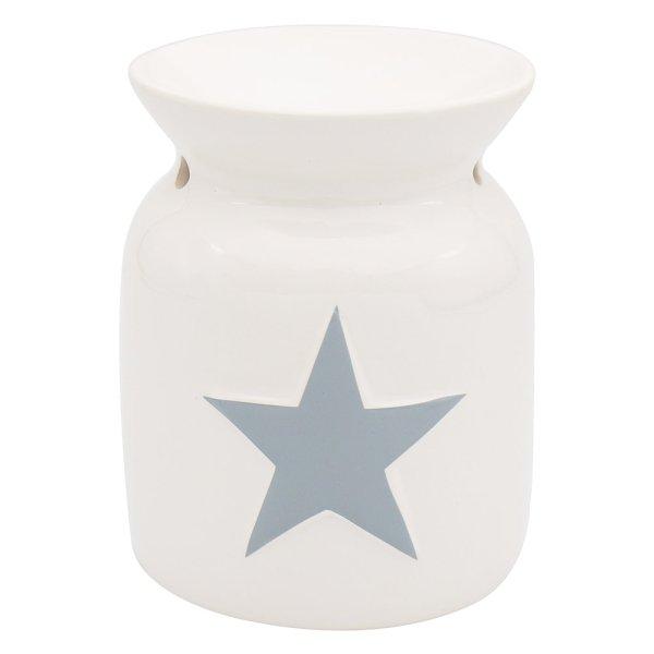 WHITE GREY STAR WAX WARMER