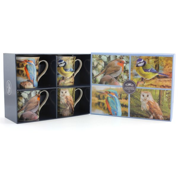 BIRDS MUGS SET OF 4