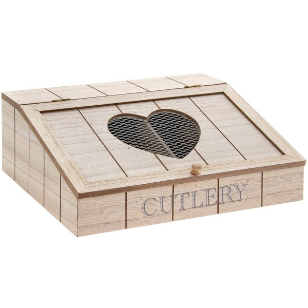HEART CUTLERY BOX