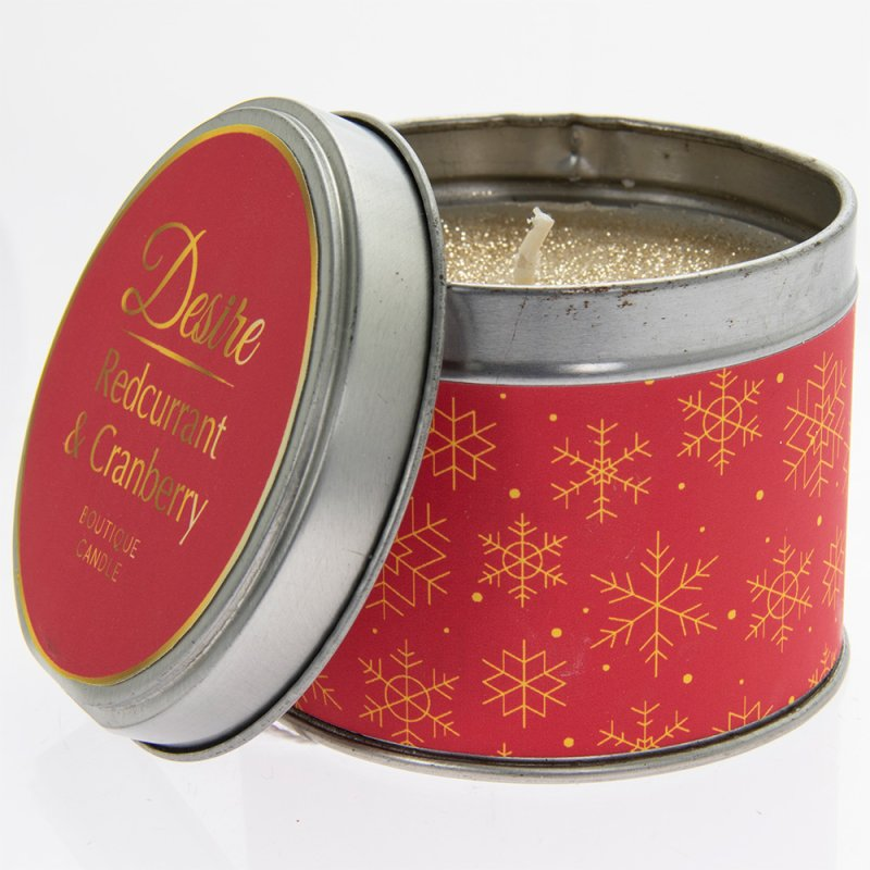 DESIRE CRANBERRY TIN CANDLE