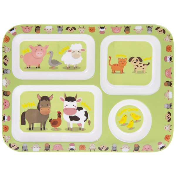 L/STARS FARMYARD COMPART TRAY