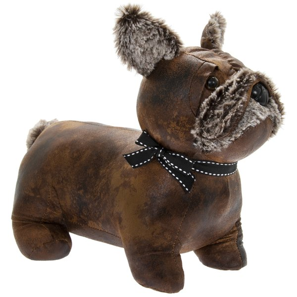 FAUX LEATHER FRENCHIE DOORSTOP