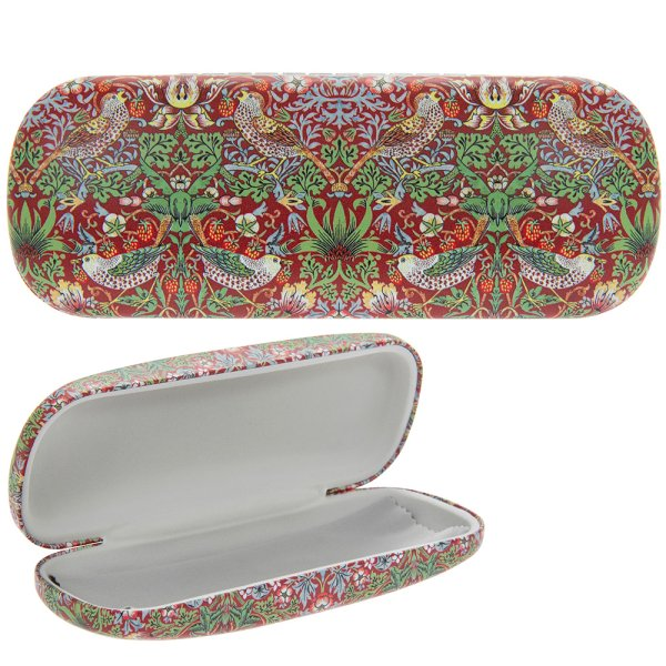 S BERRY THIEF RED GLASSES CASE