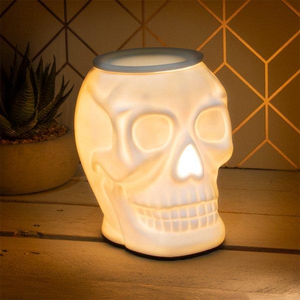 DESIRE SKULL AROMA LAMP WHT