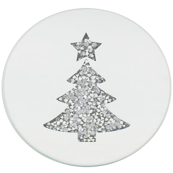 XMAS TREE CANDLE PLATE 10CM
