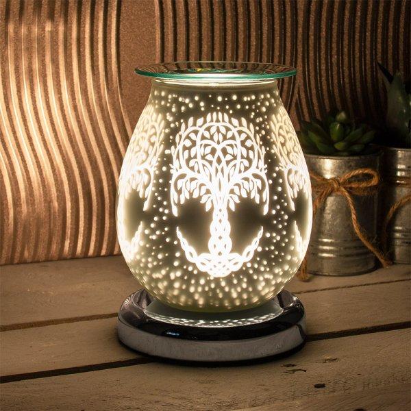 SATIN WHT TREE AROMA LAMP