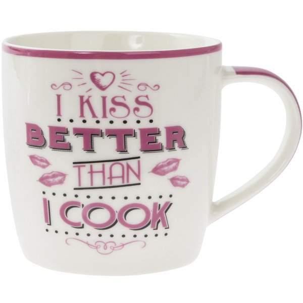 KISS BETTER THAN I COOK MUG