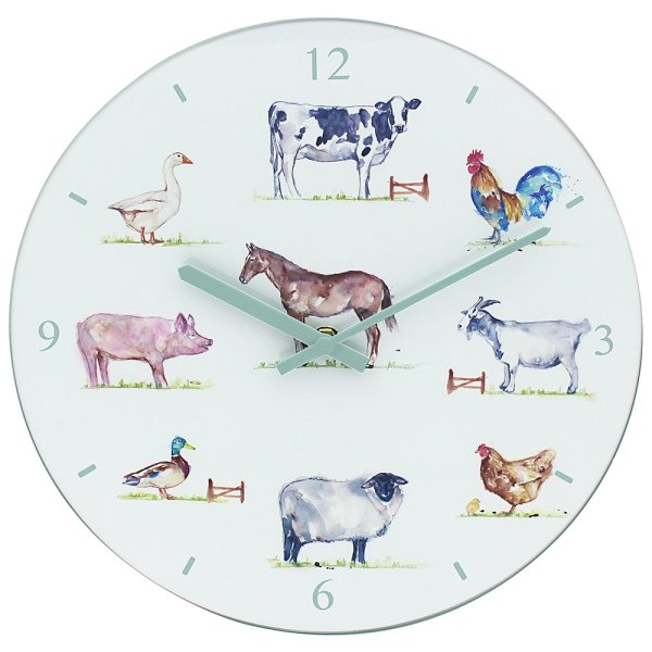 COUNTRY LIFE FARM GLASS CLOCK