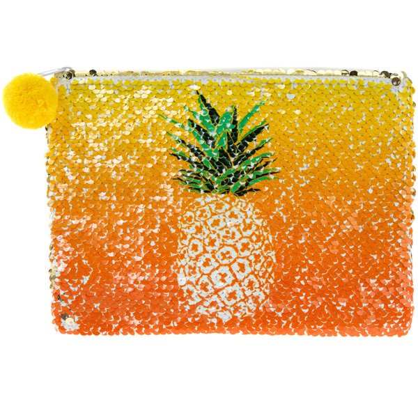 PINEAPPLE SEQUIN COSMETICPOUCH