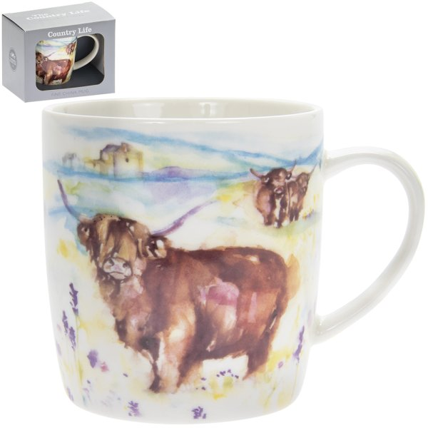 COUNTRY LIFE HIGHLAND COW MUG