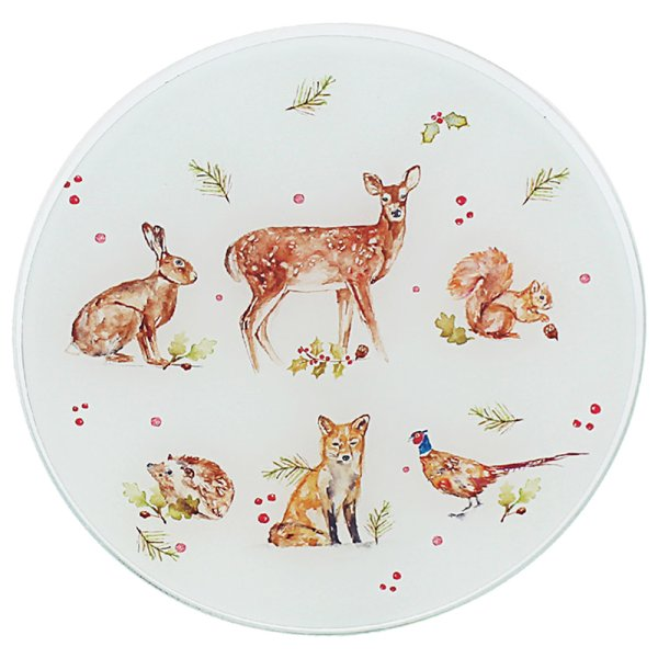 WINTER FOREST CANDLE PLATE 20C