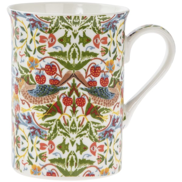 WHT STRAWBERRY THIEF MUG