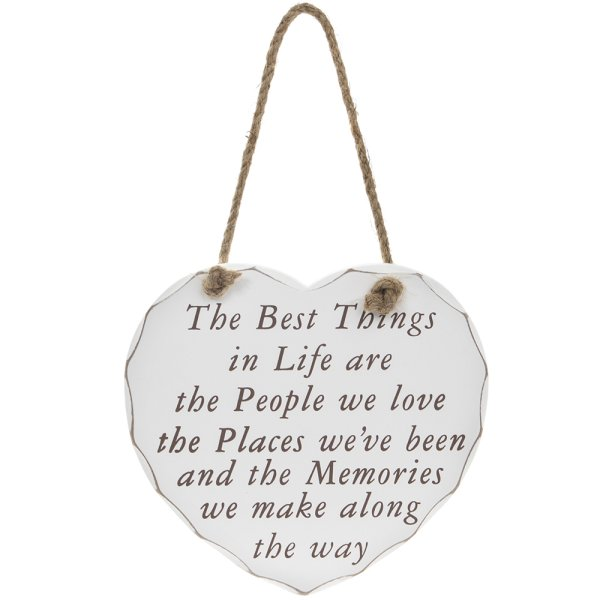 THE BEST THINGS IN LIFE PLAQUE