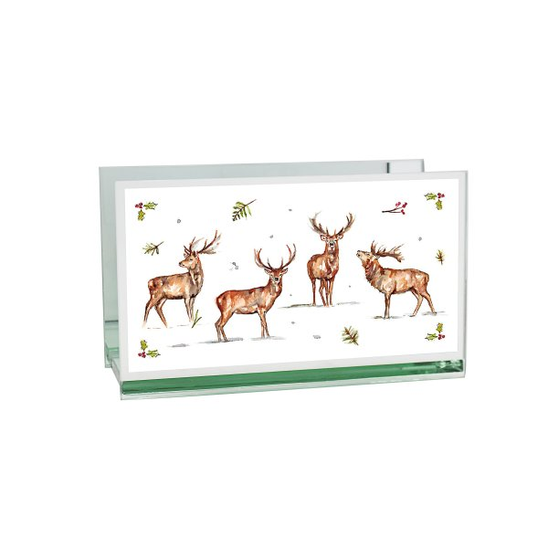 WINTER STAGS TEALIGHT HOLD DB